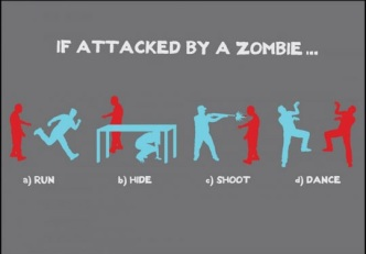 If attacked by a Zombie.....dance!