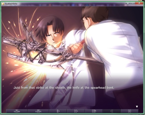 Das hier ist typische Visual Novel-Action.