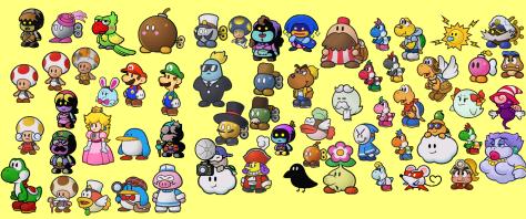 Hier nur ein Ausschnitt der individuellen Paper Mario-Charaktere.
