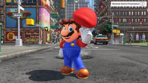 Mario mit seiner Trademark-Mütze.